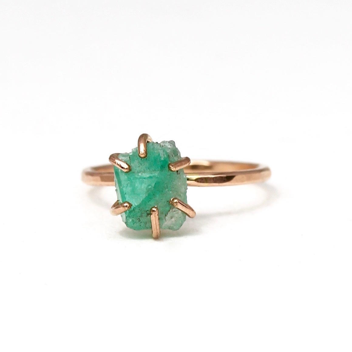 Emerald Ring Gold Filled | Trada Marketplace