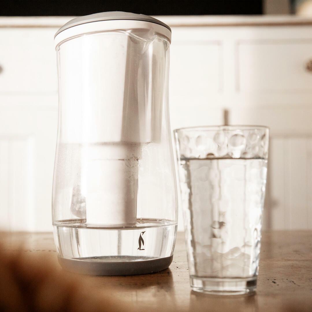 Gentoo Glass Water Filter Jug (Grey & White)   Trada Marketplace