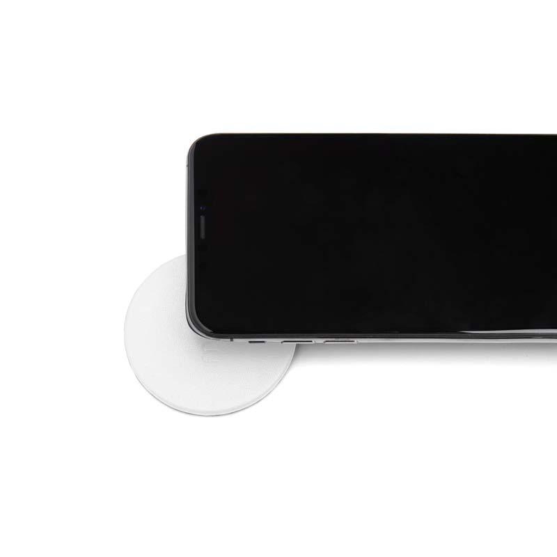 Moon Wireless Charging Pad Imitation Leather White | Trada Marketplace