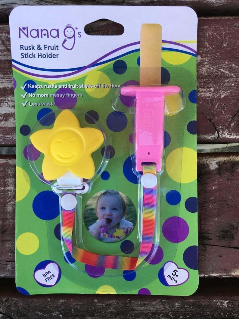 Rusk and Fruit Stick Holder - Pink-Yellow | Trada Marketplace