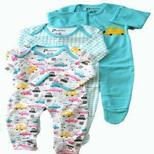 Organic Cotton Sleep N Play Bodysuit - 3PC SET   Trada Marketplace