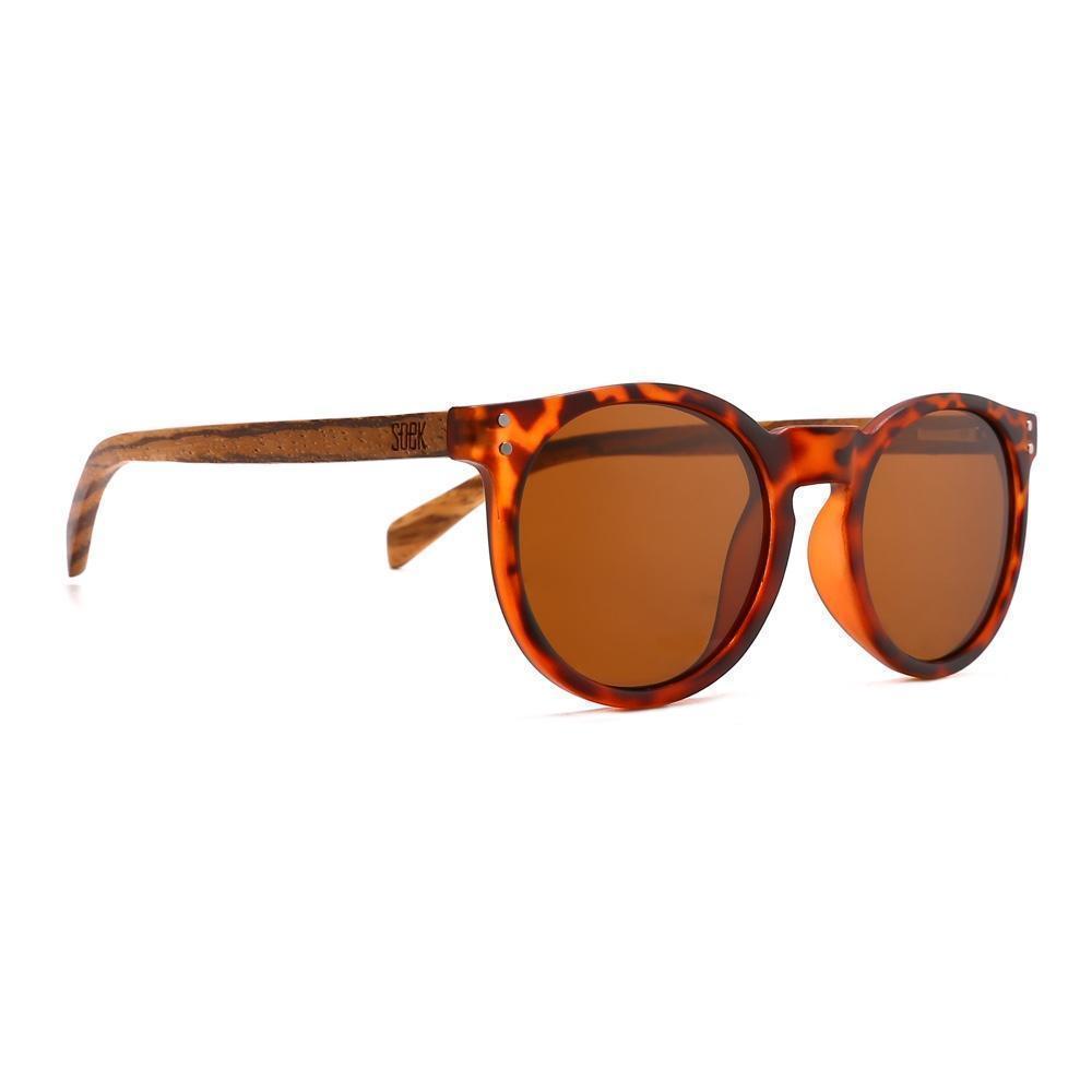 NOOSA - Tortoise Sustainable Polarized Sunglasses with Walnut Wooden Arms - Adult | Trada Marketplace
