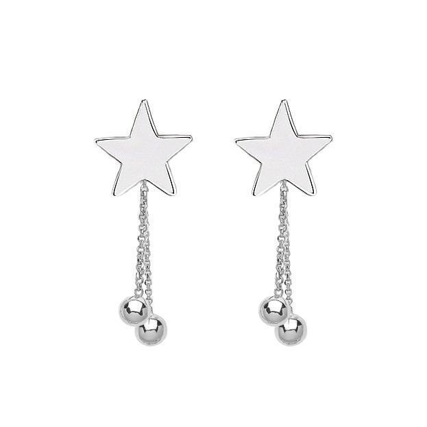 Stars & Planets Drop Earring Studs - Sterling Silver | Trada Marketplace