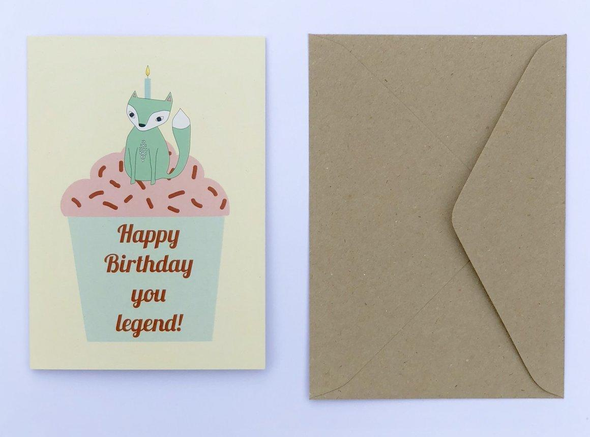 Happy Birthday You Legend 100% Recycled Greeting Card | Trada Marketplace