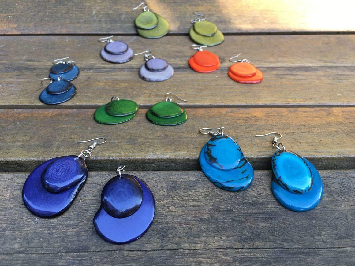 Double Petals Tagua earrings | Trada Marketplace