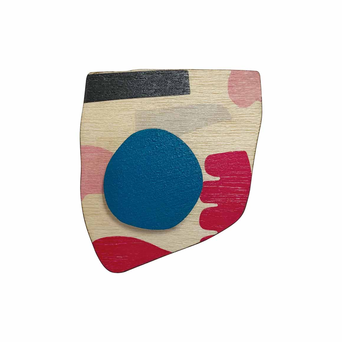 Abstract brooch with blue spot   Trada Marketplace
