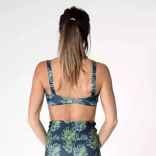 Crop Top / Surf Bikini - NEW Leaf Watercolour   Trada Marketplace