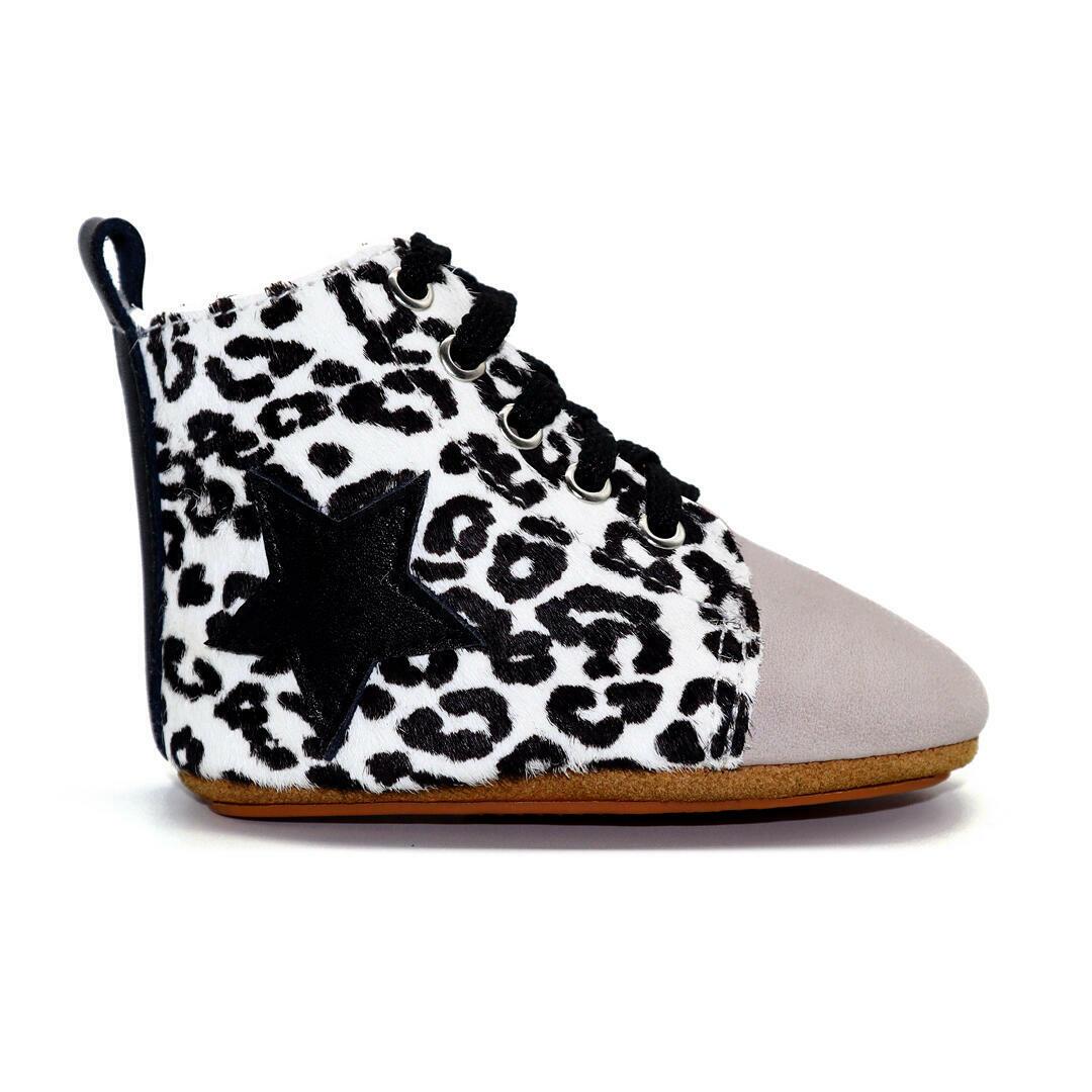 Seren baby hightop boot - Snow Leopard | Trada Marketplace