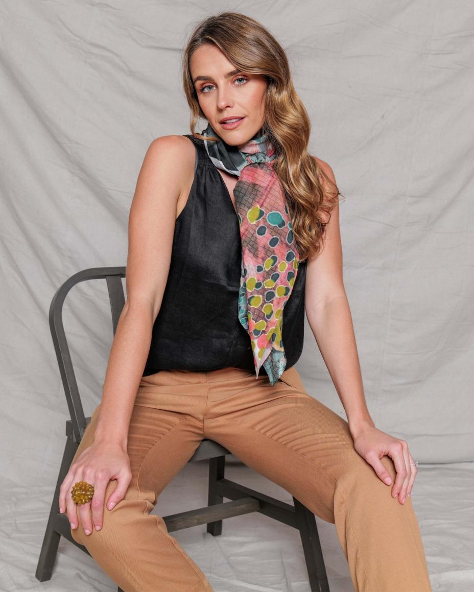 Silk-cotton scarf | CULTIVATE | Trada Marketplace