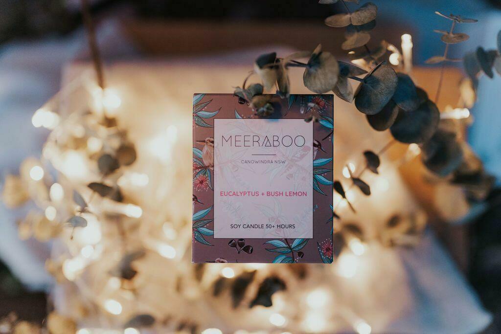 Eucalyptus + Bush Lemon Matte White Boxed Soy Candle | Trada Marketplace