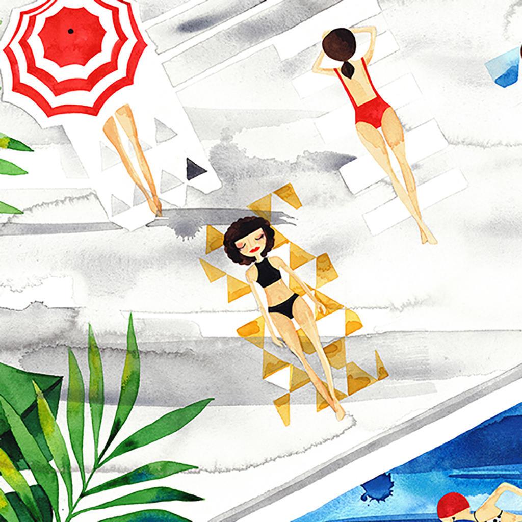 Poolside Art Print | Trada Marketplace