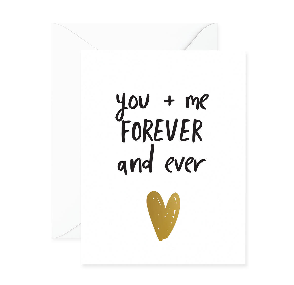 You + Me Forever Greeting Card | Trada Marketplace