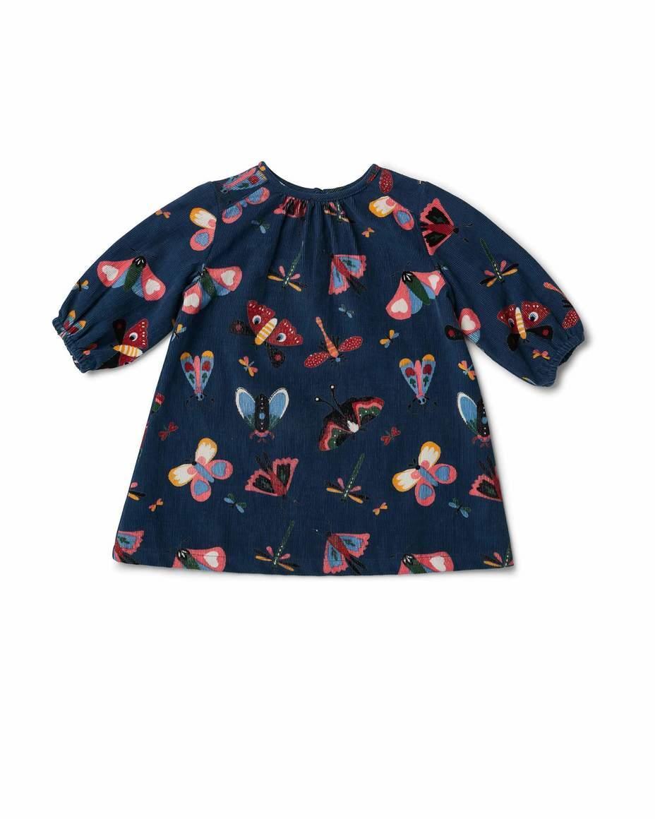 Birdie Gathered Dress Butterfly Navy | Trada Marketplace