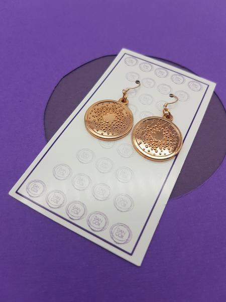 Star Burst Rose Gold Plate Alloy Earrings Stainless Steel Hooks  | Trada Marketplace
