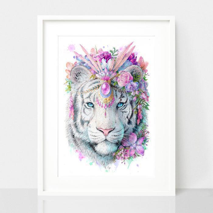 Tiger Art Print - Spirit Animal Series | Trada Marketplace
