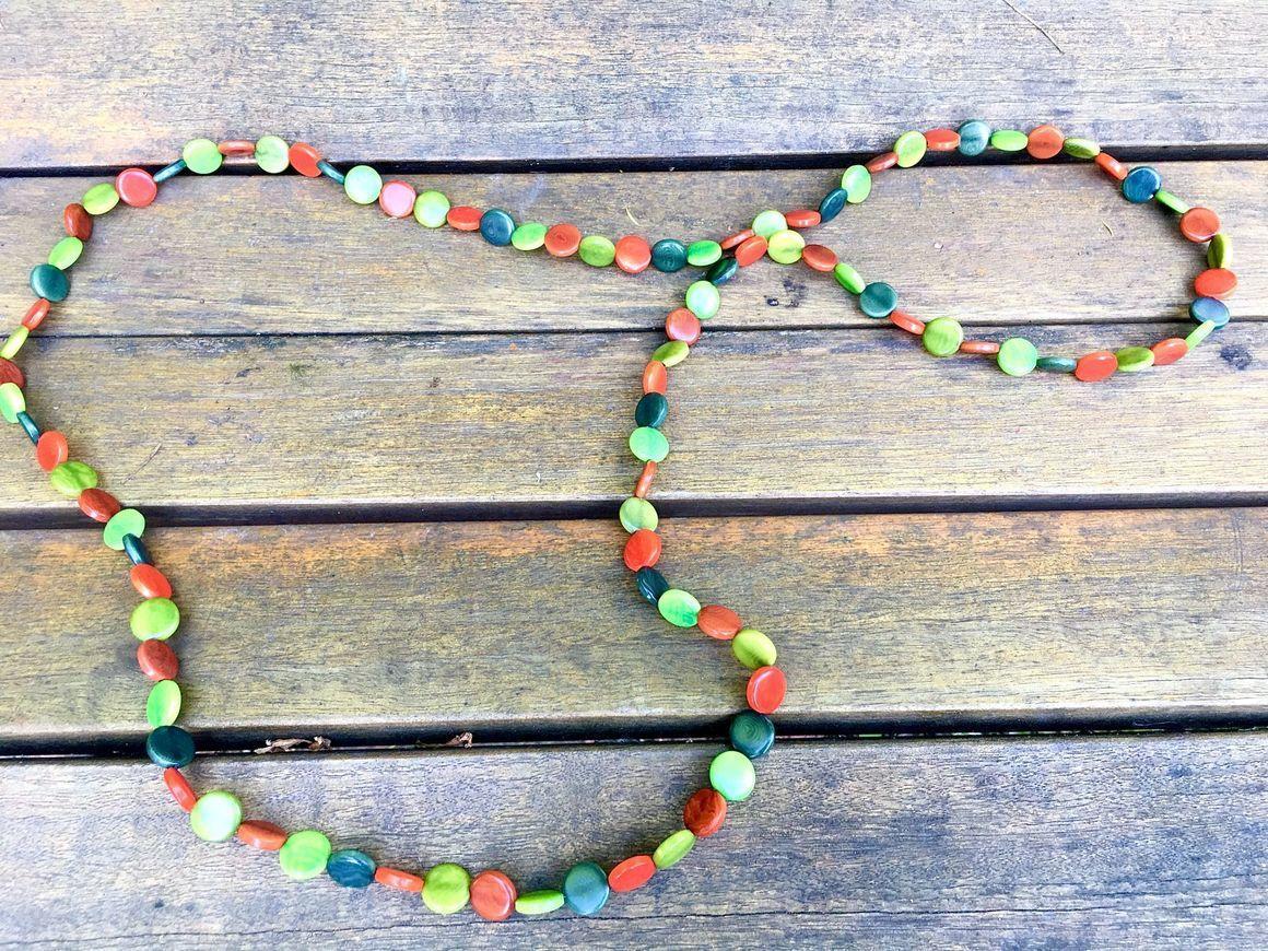 Mini discs Long Tagua Necklace | Trada Marketplace