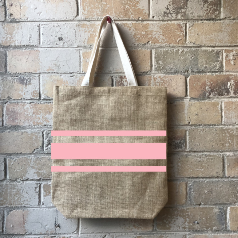 Striped for Success Casual Shopper Pink   Trada Marketplace