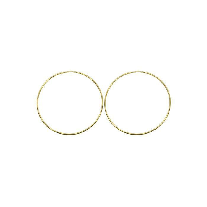 50mm Sterling Silver Gypsy Hoop Earrings - Silver, Gold and Rose gold  | Trada Marketplace