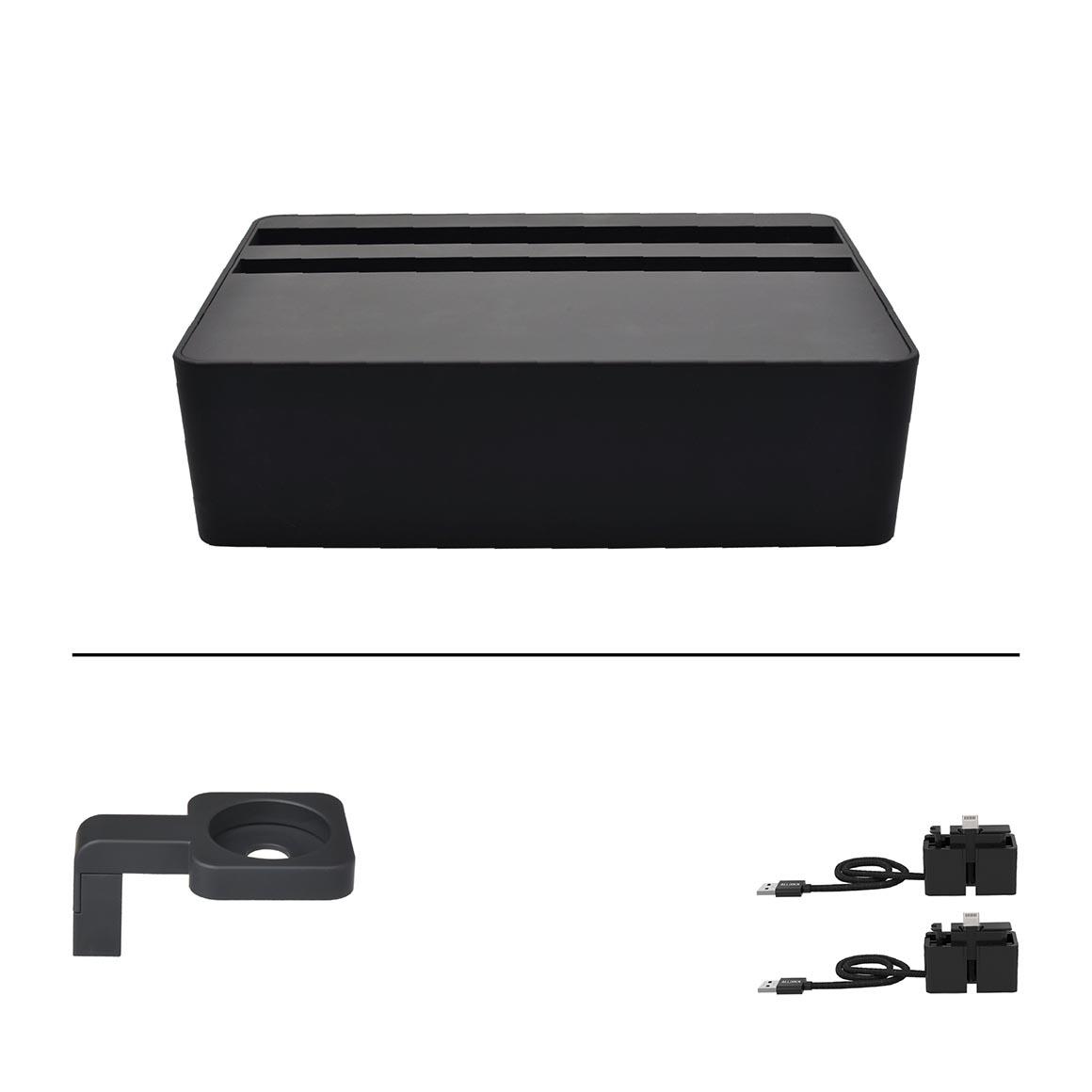 ALLDOCK HybridX Compact Black + 2x MFi Cable + Black Apple Watch Mount   Trada Marketplace