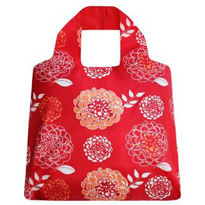Red Bloom SAKitToMe Foldable Shopping Bag  | Trada Marketplace