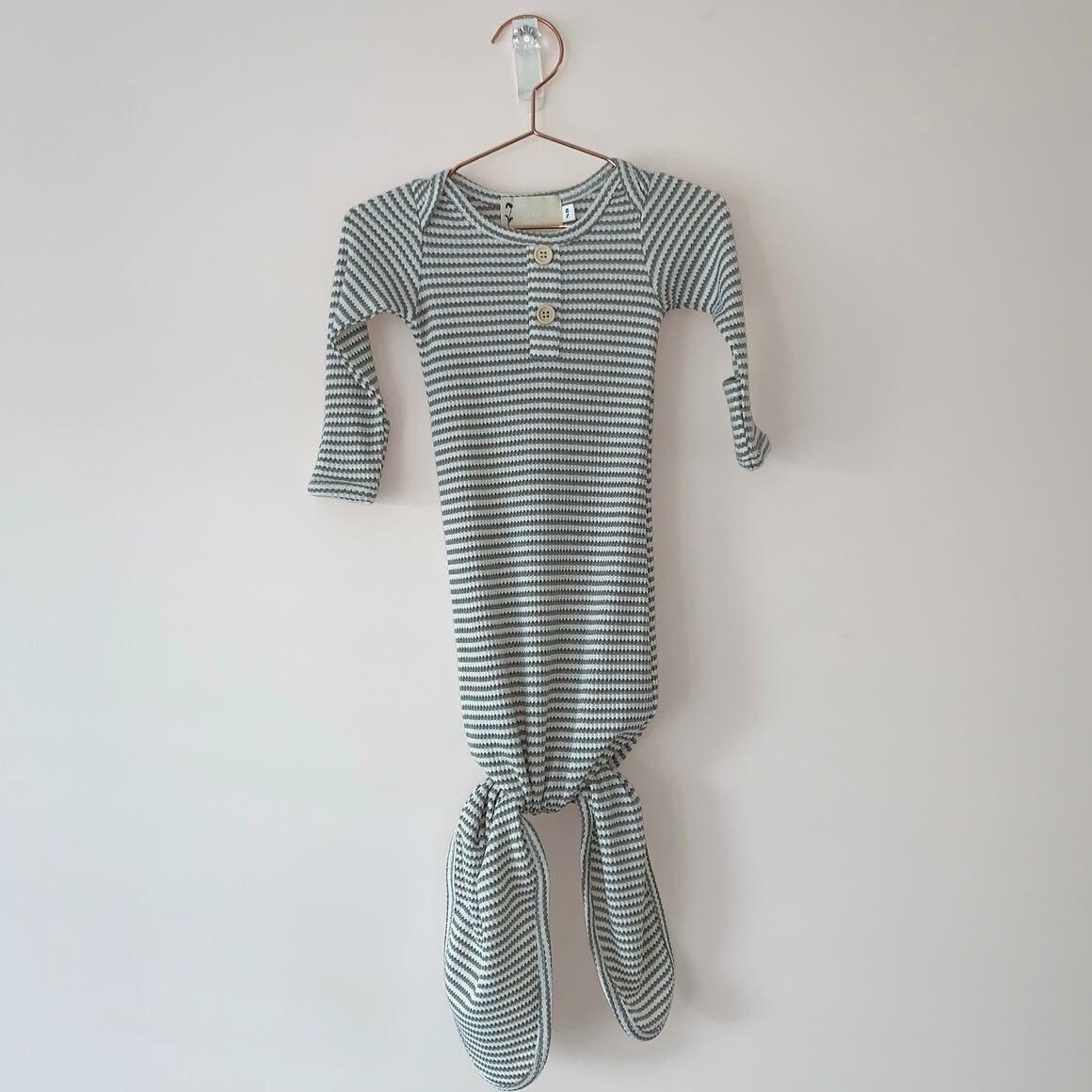 Eucalyptus Stripe Knotted Gown | Trada Marketplace