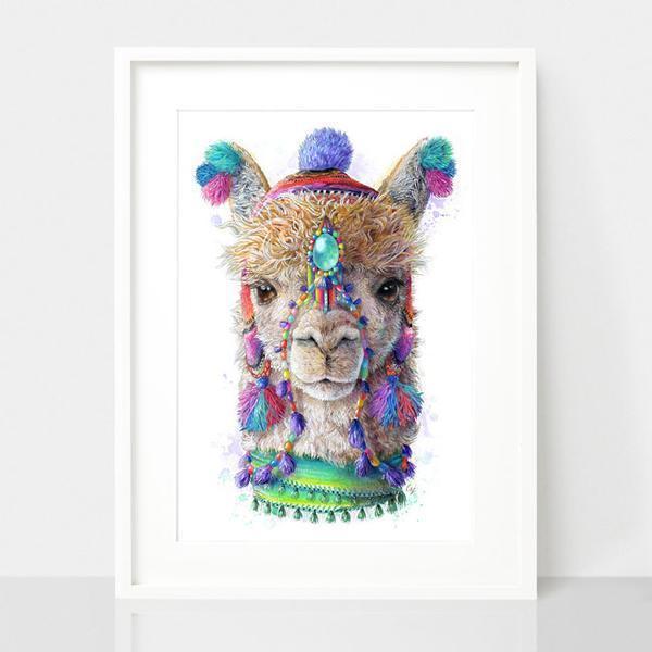 Alpaca / Llama Print - Spirit Animal Series | Trada Marketplace