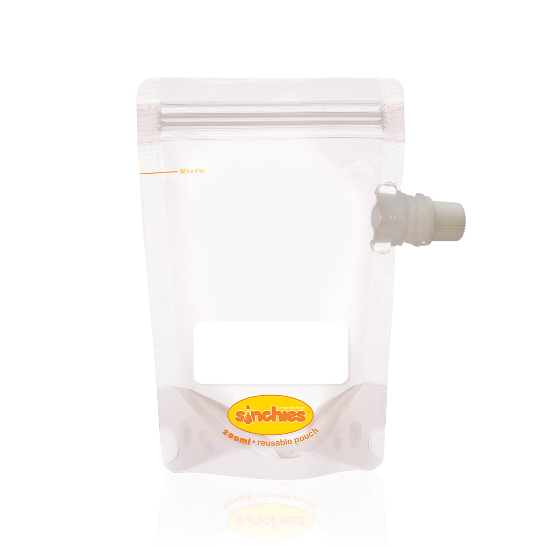 200ml Reusable Food Pouch - Side Spout (10 pack) | Trada Marketplace