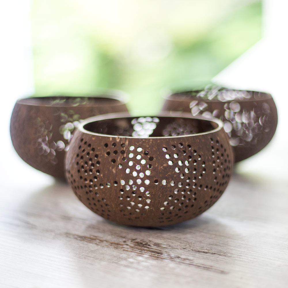 Coconut Shell Candle Holders | Trada Marketplace