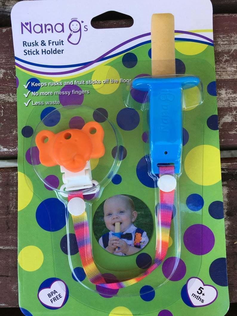 Rusk and Fruit Stick Holder - Blue-Orange | Trada Marketplace