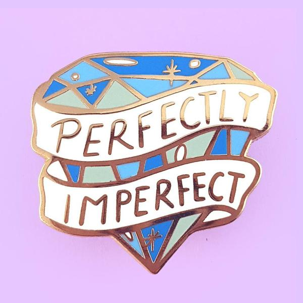 Perfectly Imperfect Lapel Pin   Trada Marketplace
