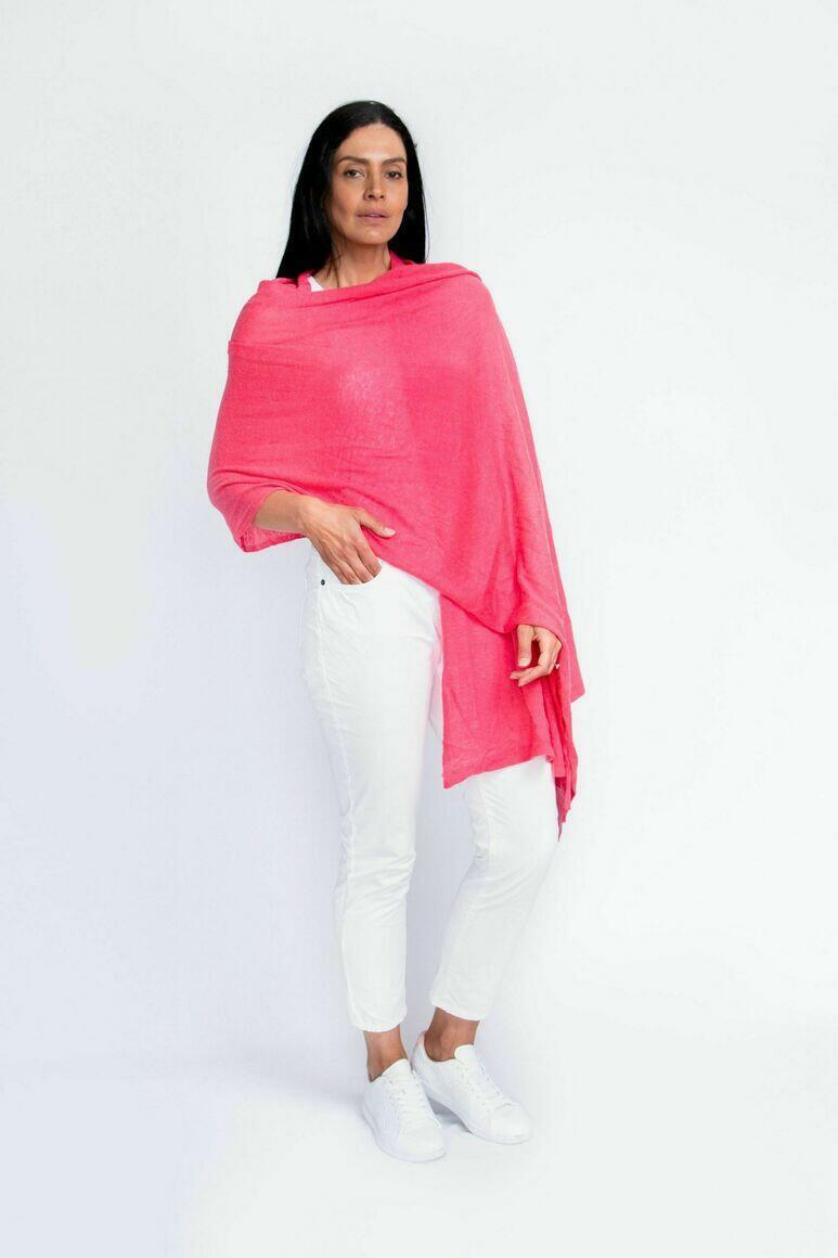 Cashmere Travel Wrap | Hot Pink | Trada Marketplace
