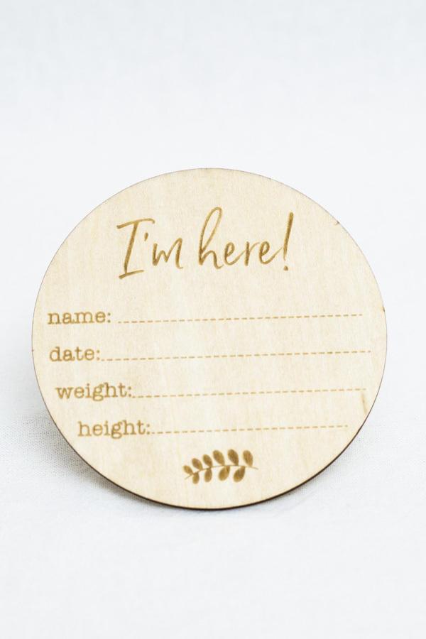 Birth Announcement Milestone Disc   Trada Marketplace