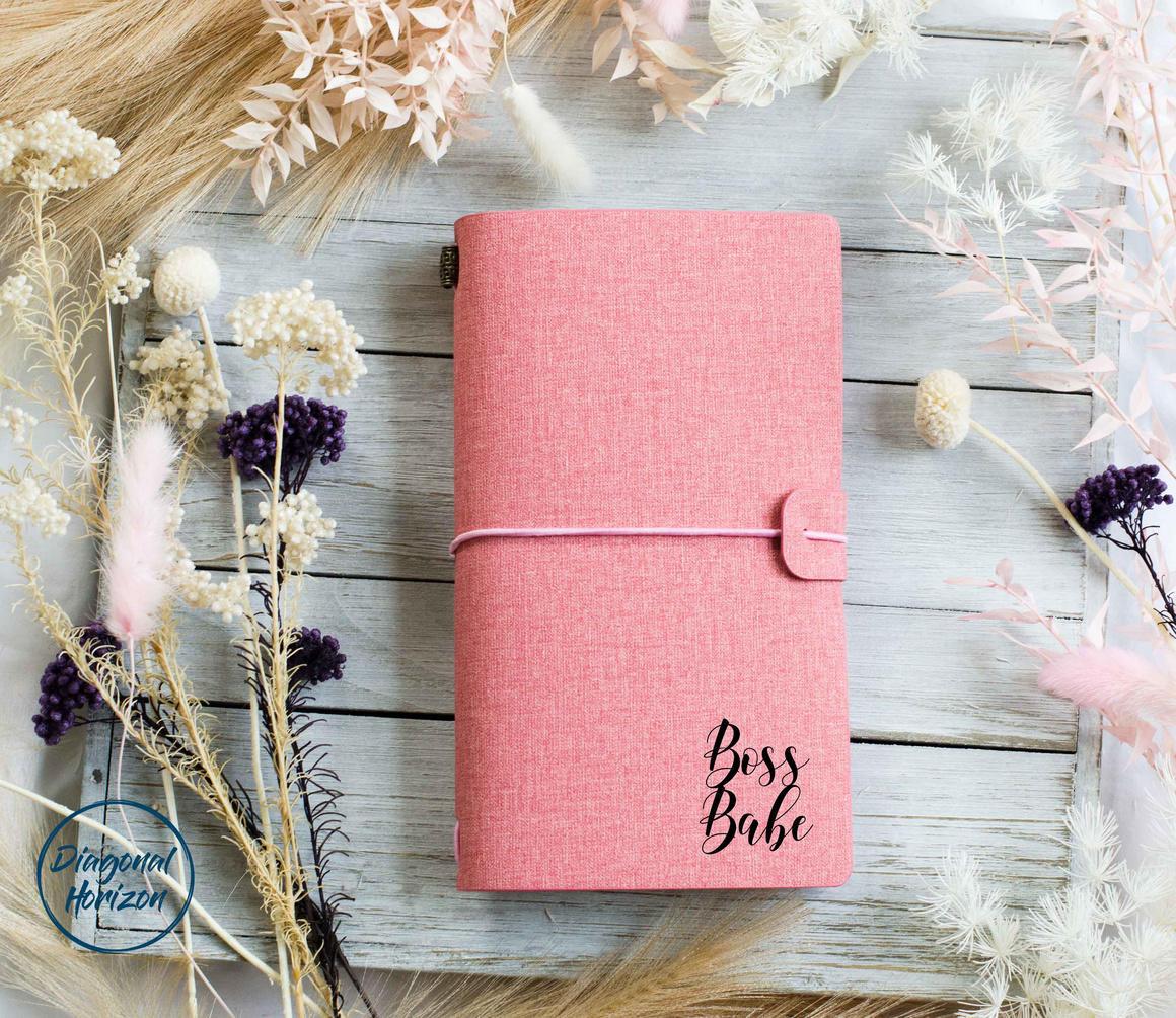 Diverse Journal Pink - Boss Babe   Trada Marketplace