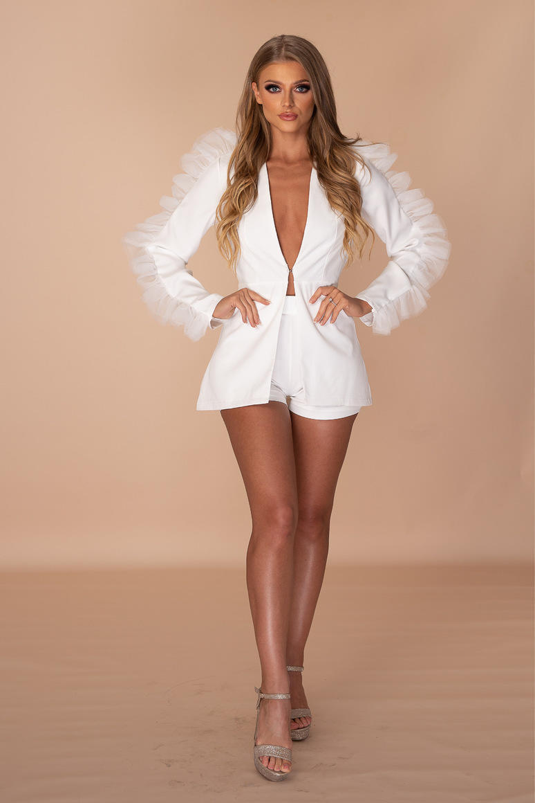 Thick Thighs And Pretty Eyes Two Piece Blazer Short Set | Trada Marketplace