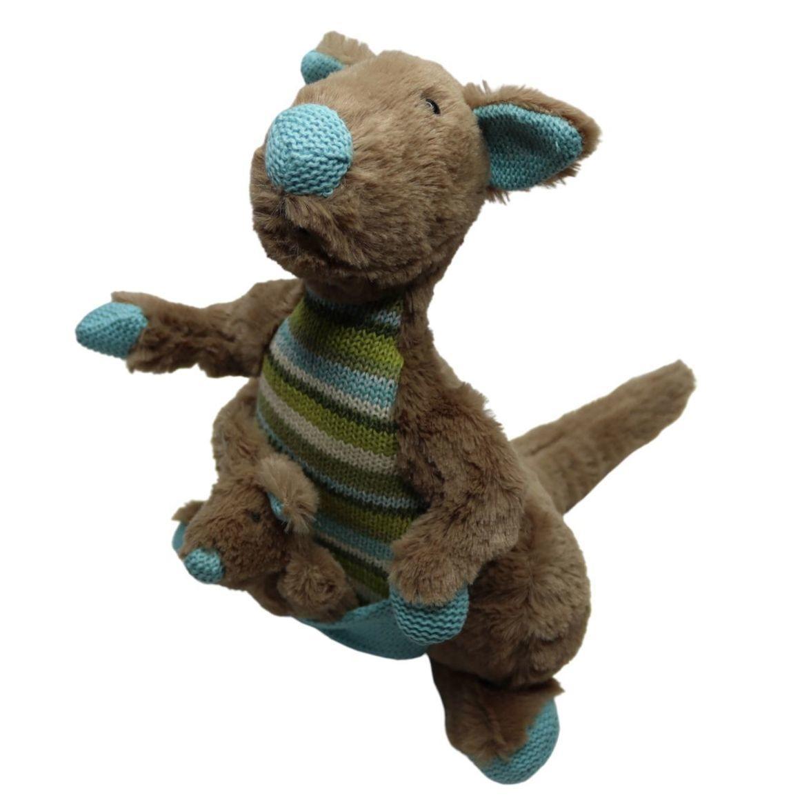 Plush Toy Kanagroo & Baby Joey - Blue/Green    Trada Marketplace