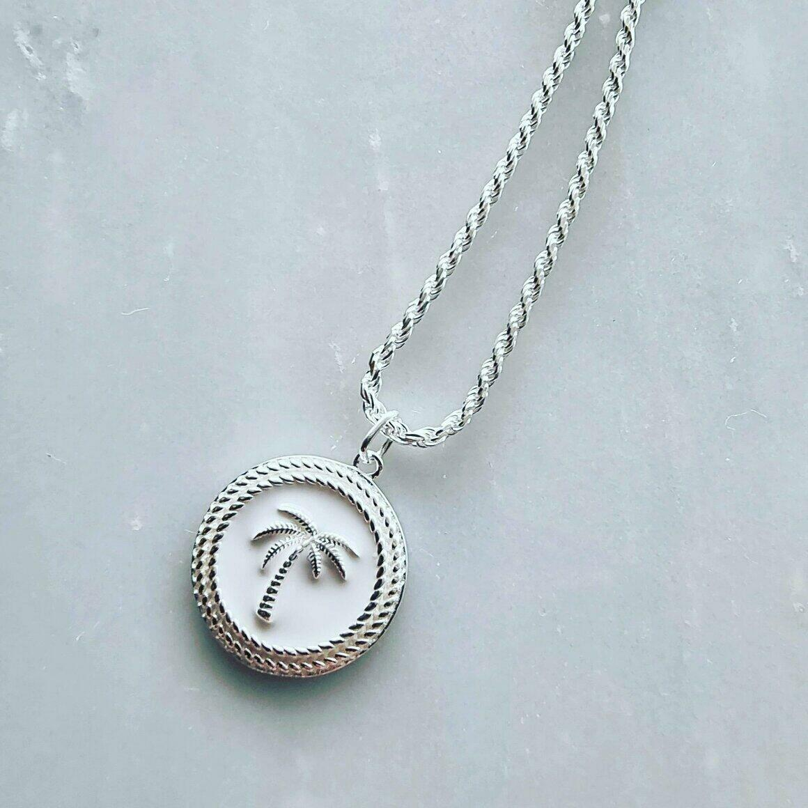 Club Tropicana Silver Plated Pendant with Rope Chain | Trada Marketplace