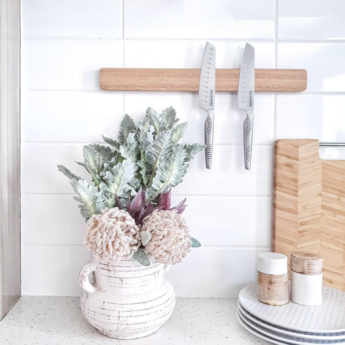 Wooden magnetic knife holder | Trada Marketplace