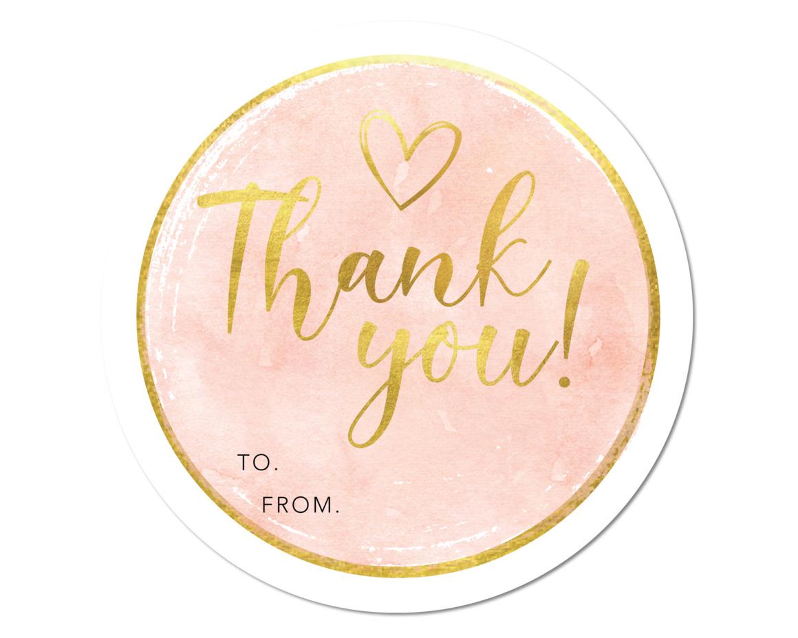 GOLD THANK YOU - SET OF 6 | Trada Marketplace