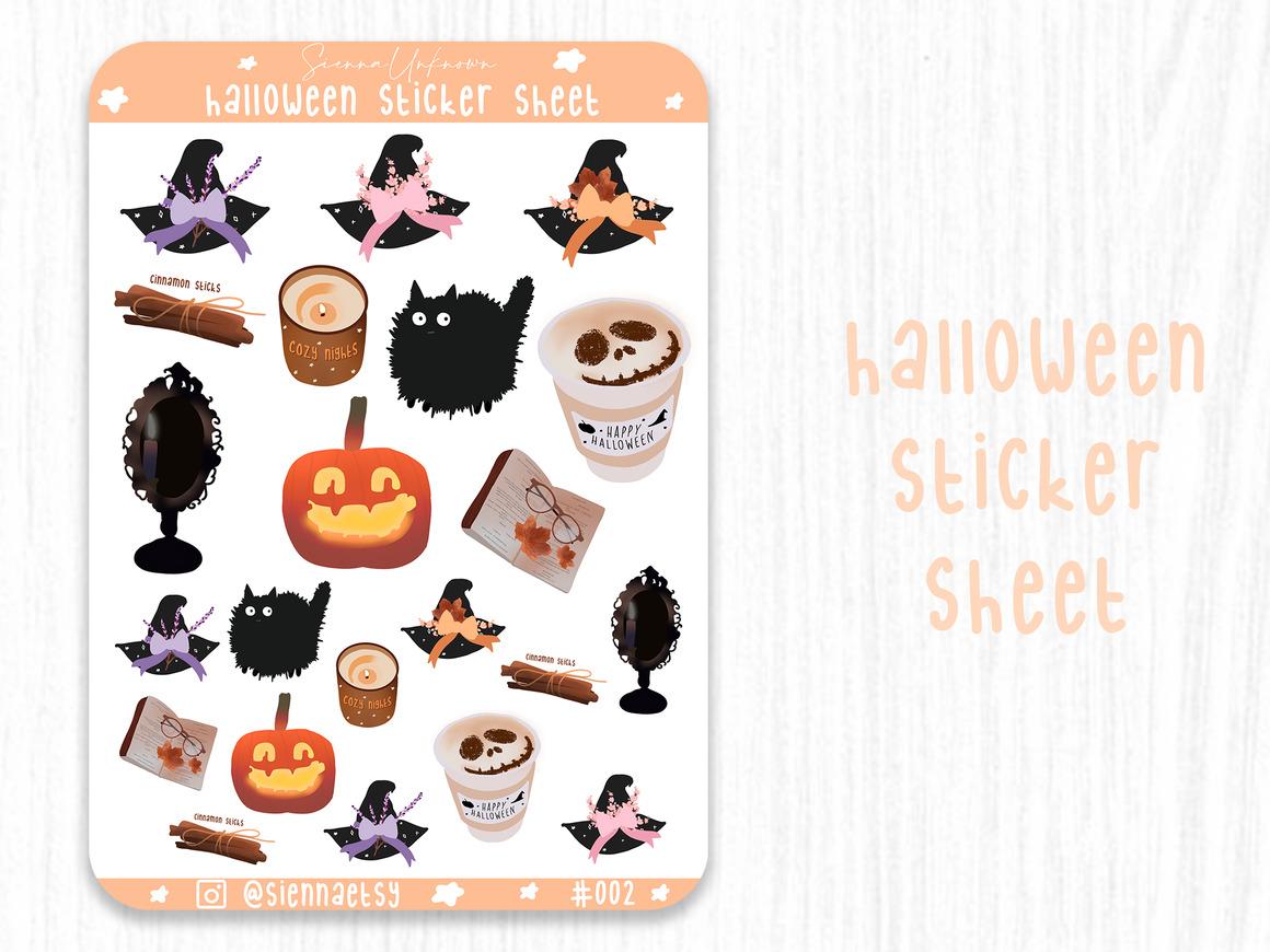 Halloween sticker sheet Cute halloween stickers | Trada Marketplace