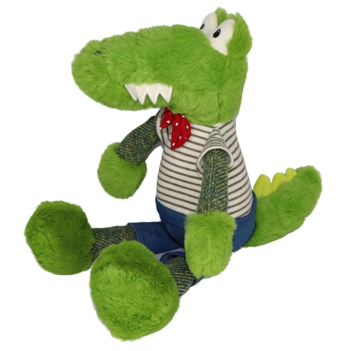 Plush Toy Crocodile - Red/White    Trada Marketplace