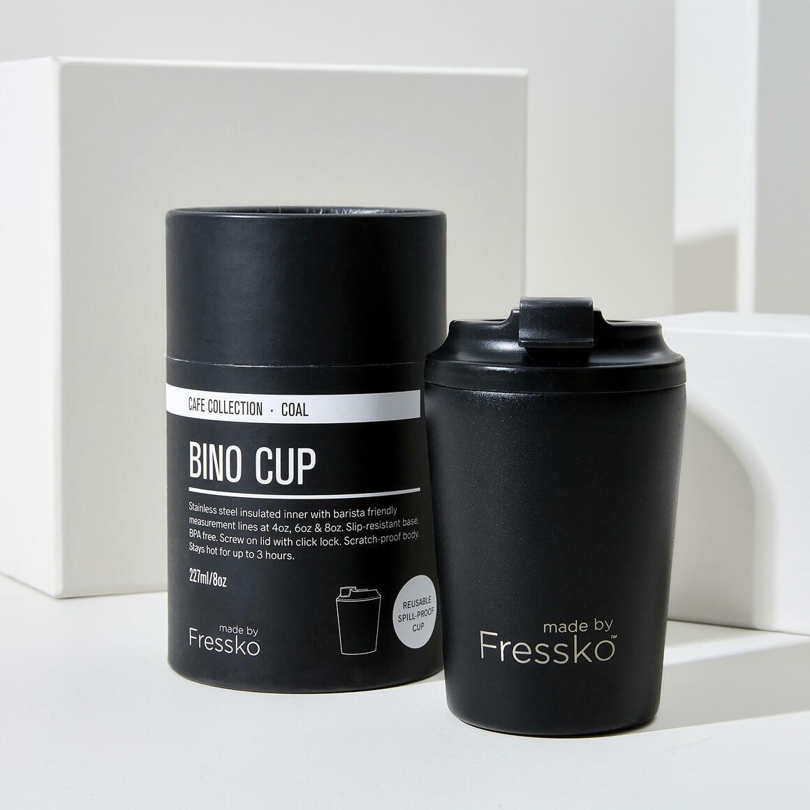 Fressko BINO 8oz  Stainless Steel Reusable  Cup BLACK | Trada Marketplace
