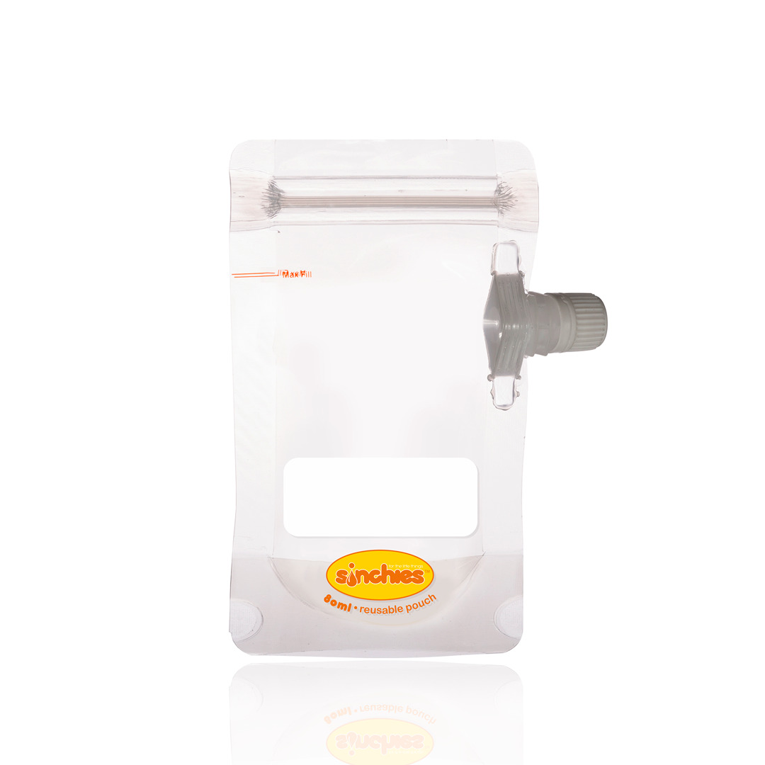 80ml Reusable Food Pouch - Side Spout (10 pack) | Trada Marketplace