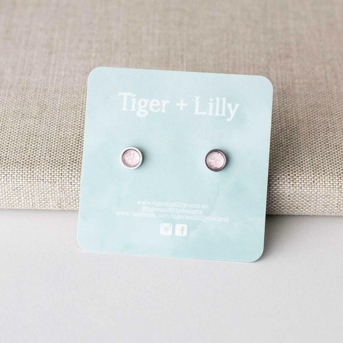 Glitzy Leopard Mini Studs - Stainless Steel | Trada Marketplace