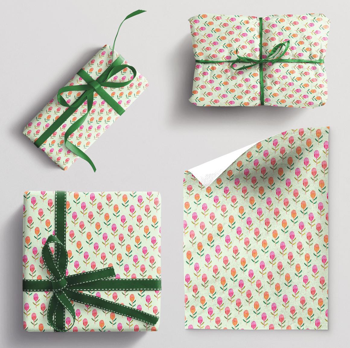 Wrapping paper single sheet Banksia | Trada Marketplace