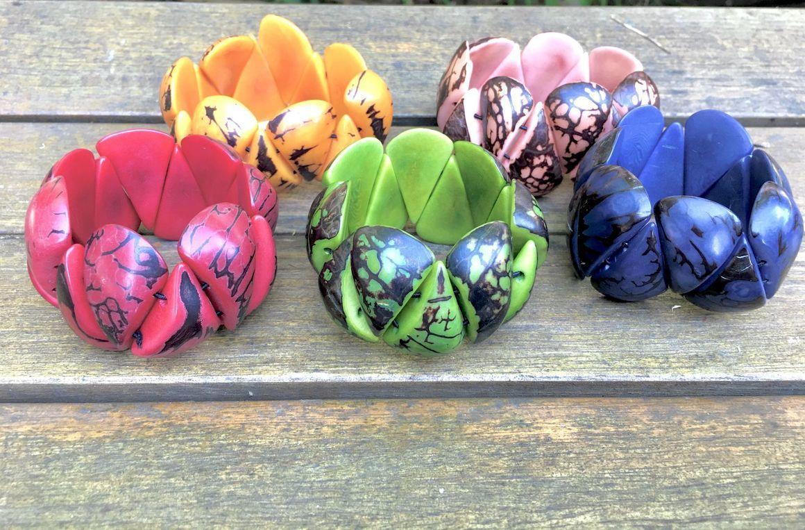Lotus Tagua Bracelet | Trada Marketplace