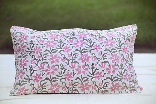 Phulhari Pink Blossom Cushion | Trada Marketplace