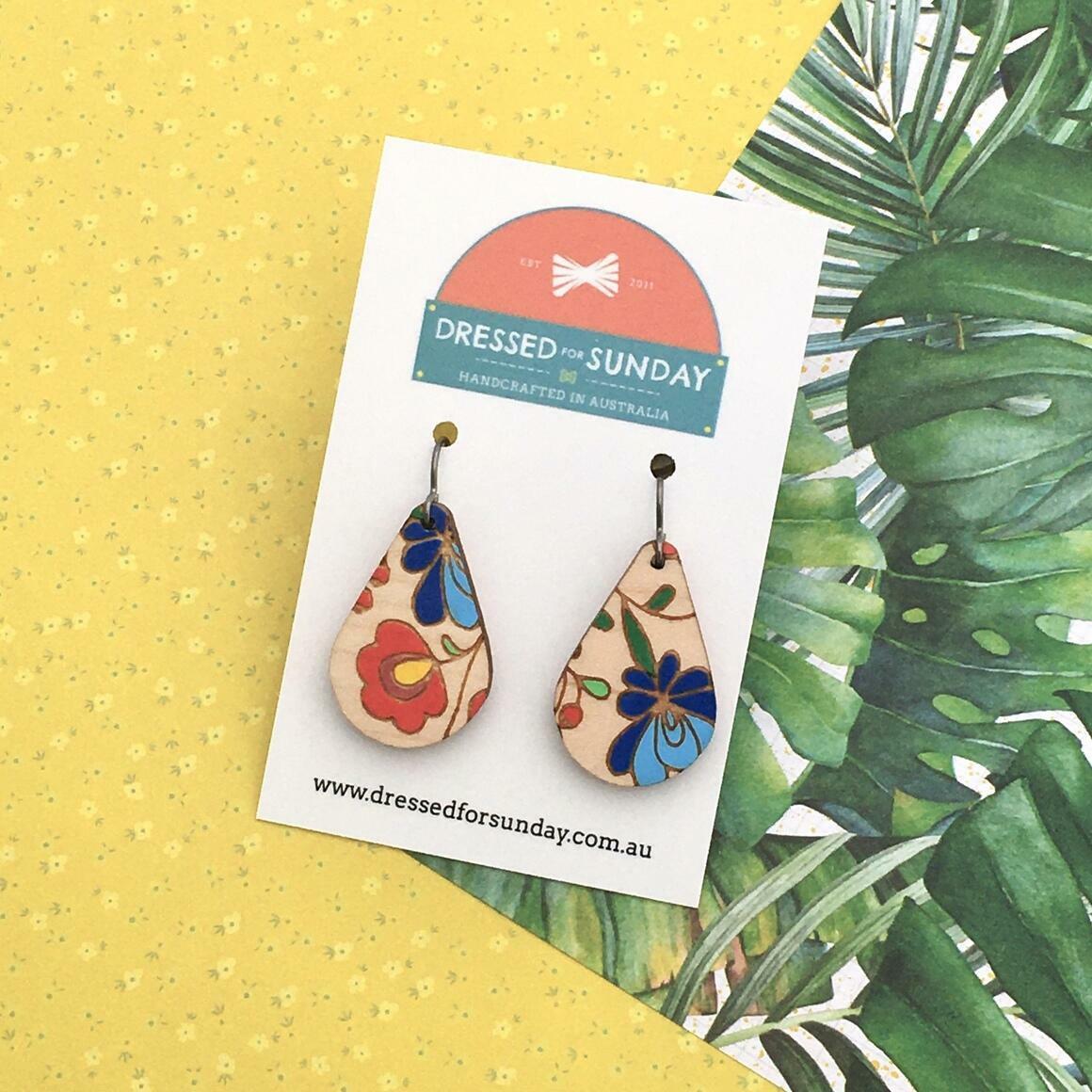 Mexi Folk Teardrop Earrings   Trada Marketplace