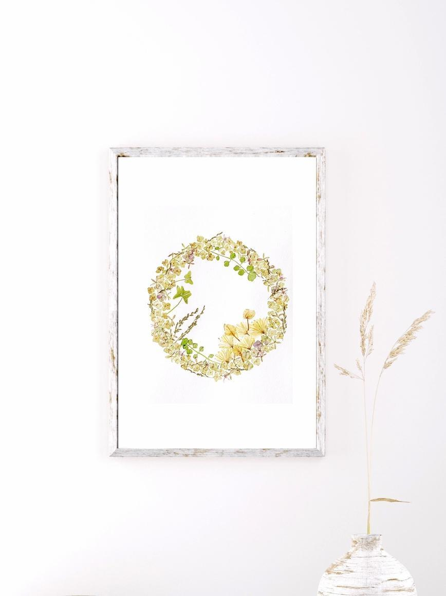 The Sweetness of Hydrangeas Wreath Art Print   Trada Marketplace