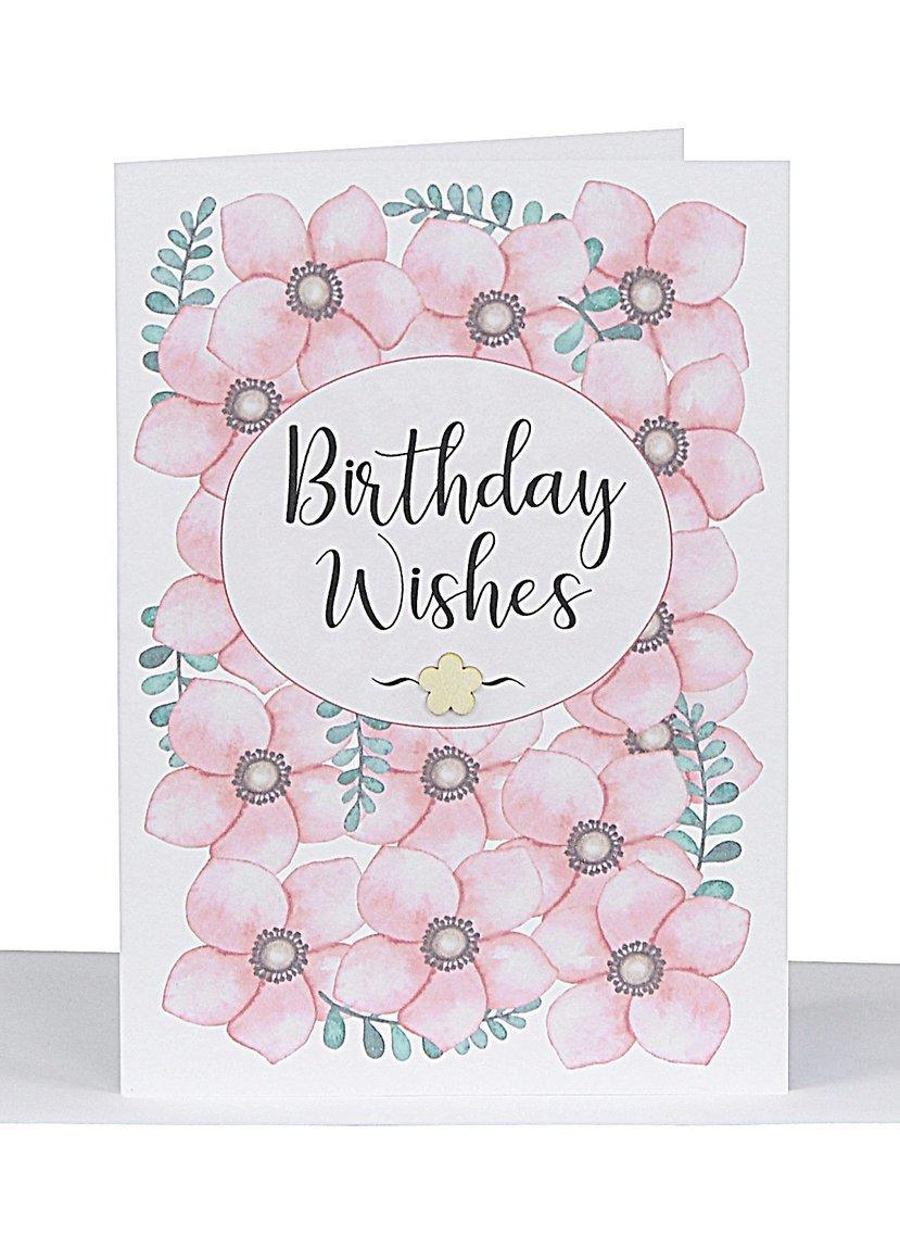 Birthday Wishes Card - Flowers | Trada Marketplace