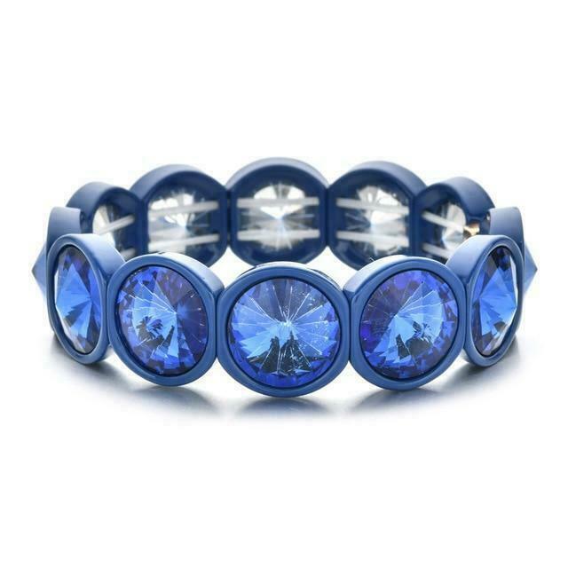 Oversized Crystal Colorblock Bracelets | Trada Marketplace